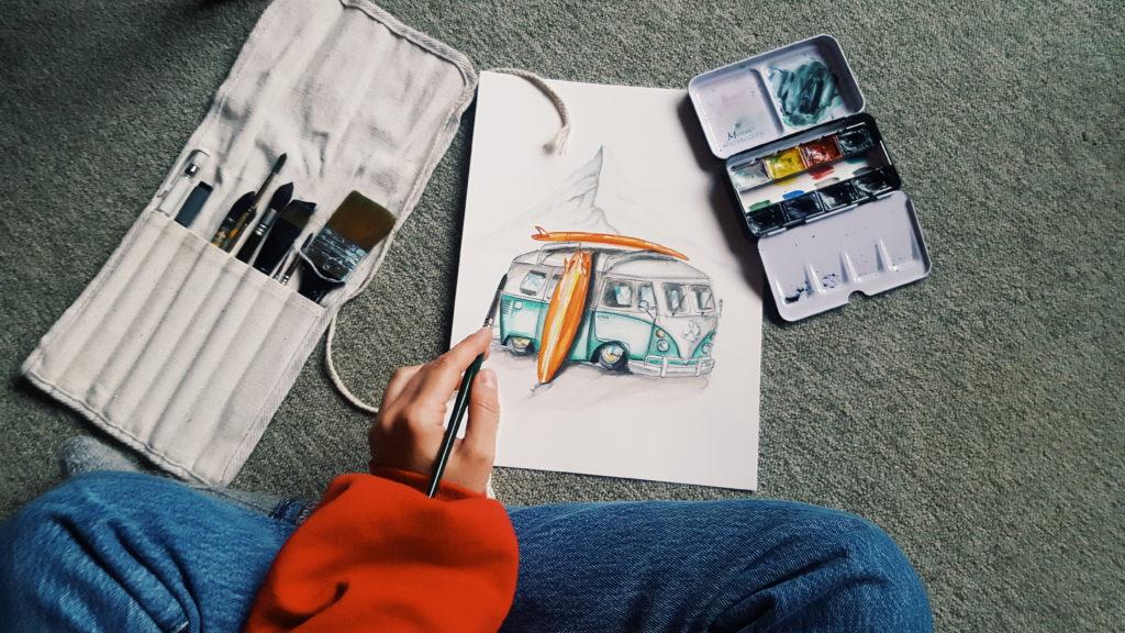 Kunstgeschenk für Freundin kaufen Moderne Einrichtung Idee  Online Inspiration Aquarelle