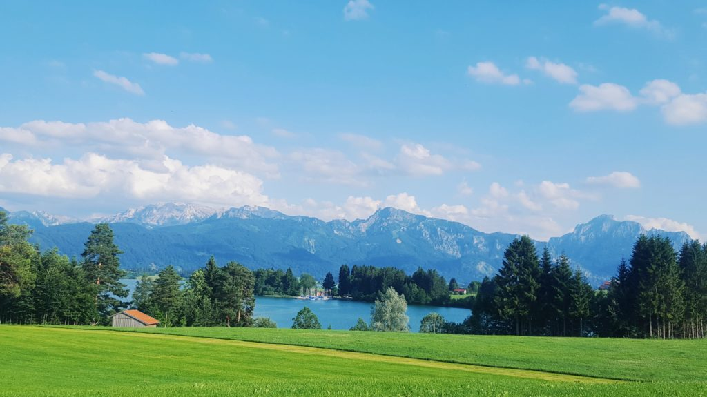Lanschaft Forgensee Berge
