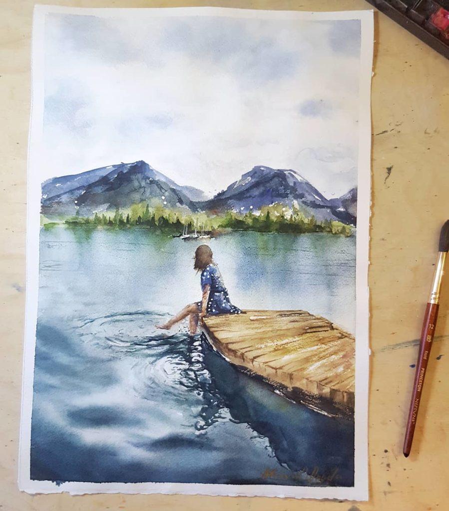 aquarell-landschaft-allgäu-unikat