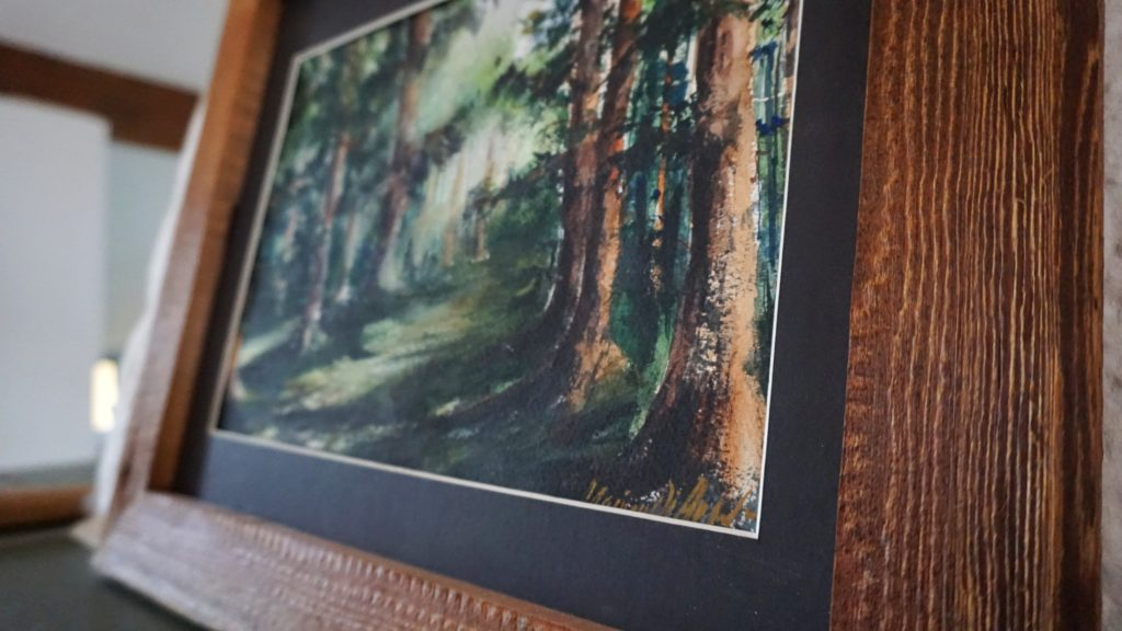 Aquarell Wald Landschaft Kaufe. Kunstwerk kaufen