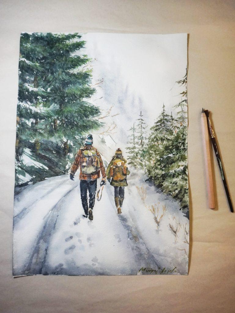romantischer-spaziergang-valentinstag-geschenk-aquarell-original-einrichtung