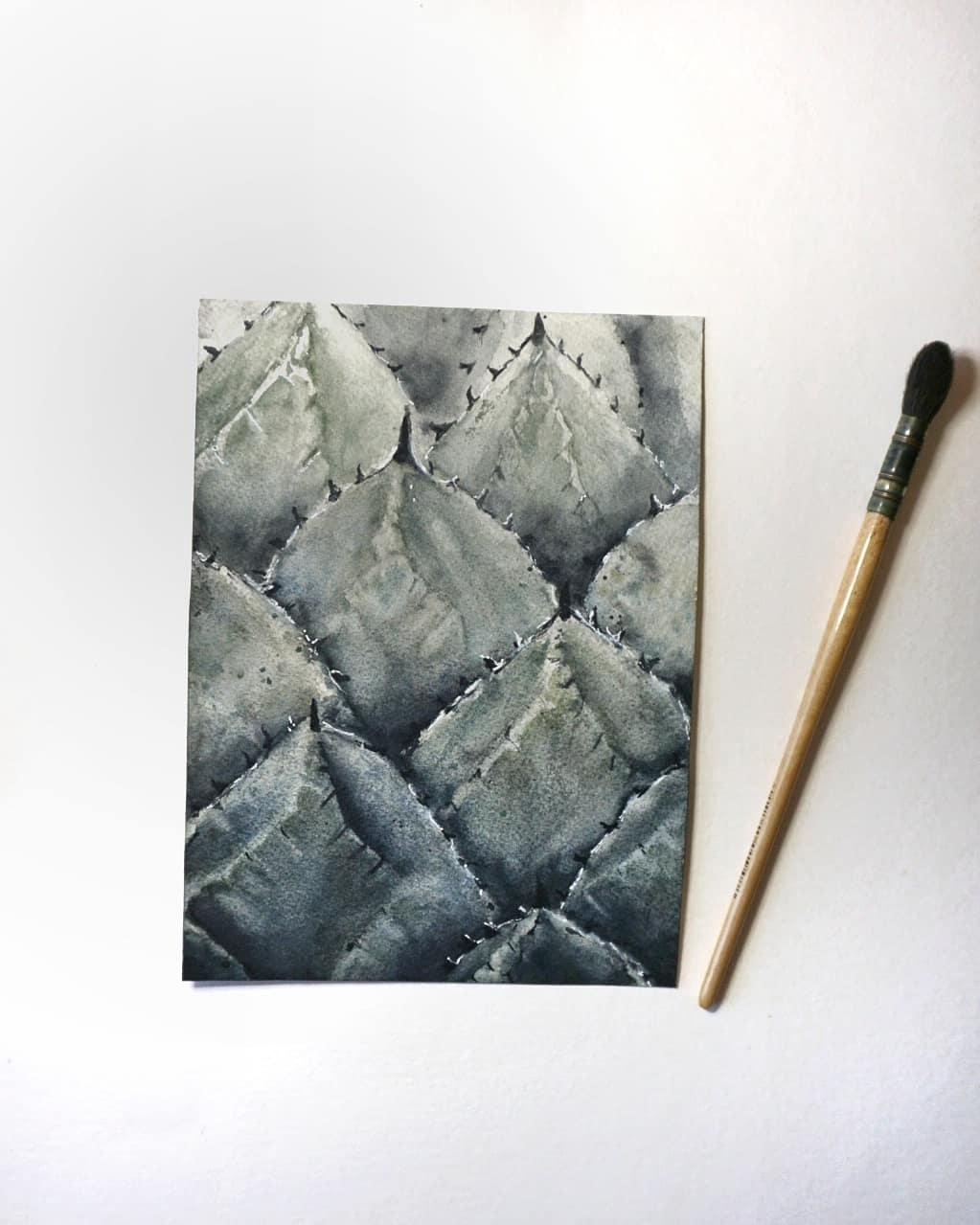 Auftragsarbeit-Kunstwerk-Wohnzimmer-Einrichtung-Original-Aquarell
