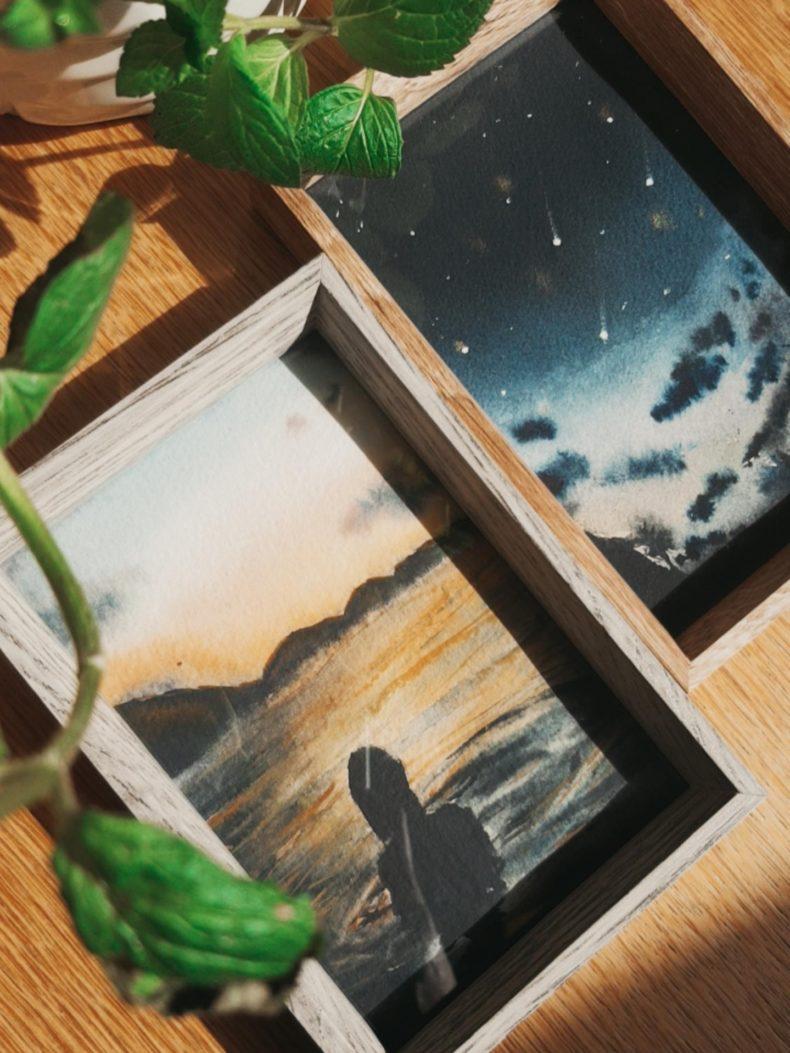 aquarell-kunstwerk-rahmen
