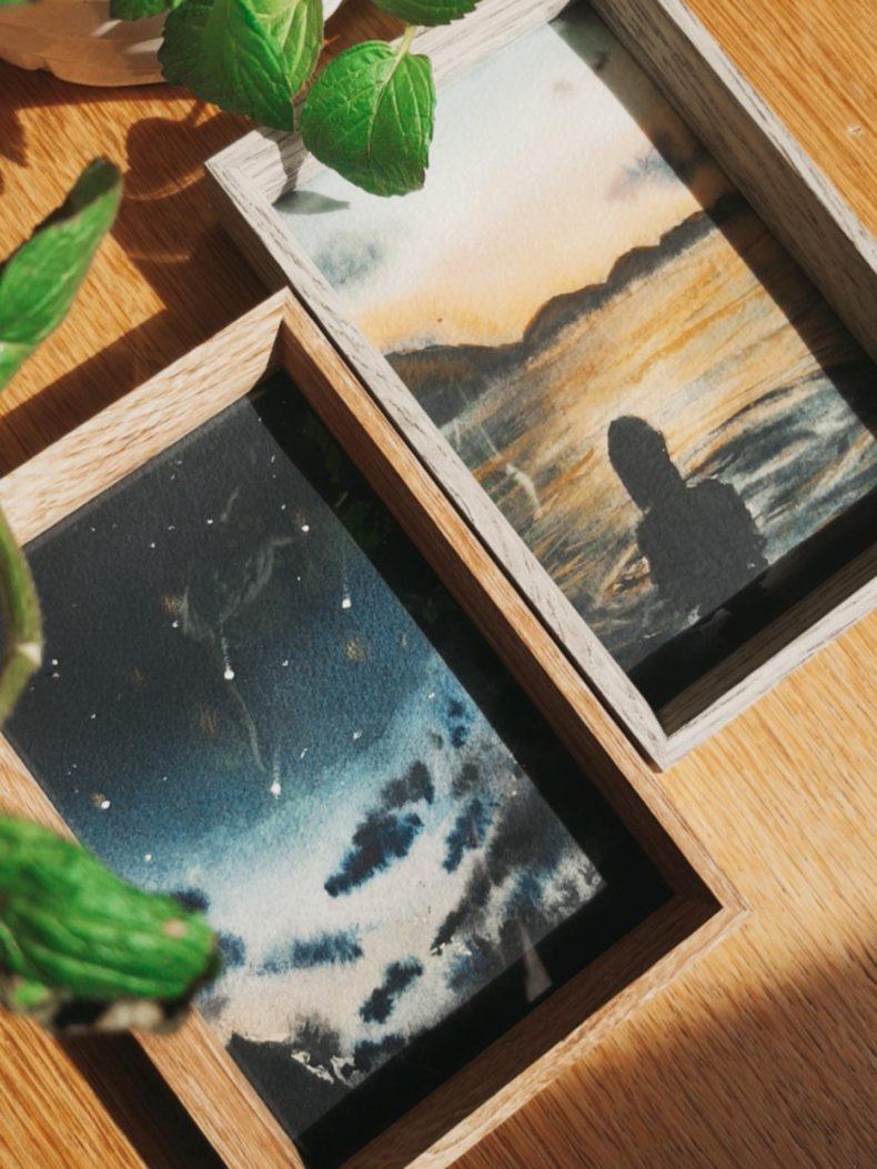 aquarell-kunstwerke-mit-rahmen